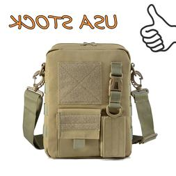 Tactical Molle Sling Shoulder Bag Military Mens Outdoor Trav