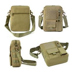 Tactical Small Canvas Messenger Bag Waterproof Casual Pack w