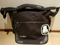 """Jansport TM20 19"""" Padded Black Shoulder Laptop Messenger Bag"""