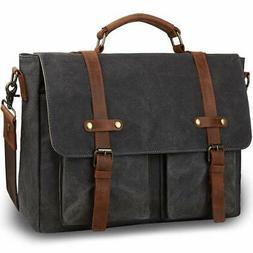 Tocode Vintage Messenger Bag for Men 15.6 inch, Water Resist