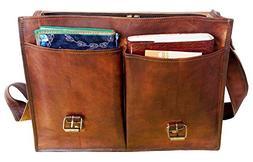 """Gbag  16"""" Twin Pocket Leather Messenger Bag Business Bag Bri"""