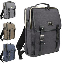 Unisex 15 Laptop Luggage Canvas Backpack Men Women Messenger