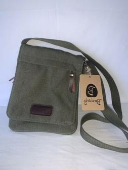 Unisex Berchirly Canvas & Leather Cross-body Messenger Bag O