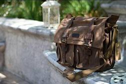 Kattee Unisex Classic Military Canvas Shoulder Messenger Bag