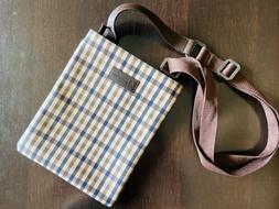 Aquascutum Unisex Messenger Leather Strap Bag with 3 inner P