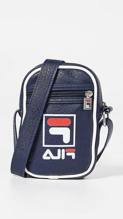 FILA Unisex Small Heritage Blue Shoulder Bag With Logo NEW