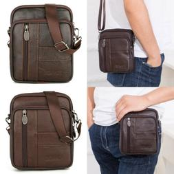 US Men's Leather Messenger Satchel Bags Cross body Tote Hand