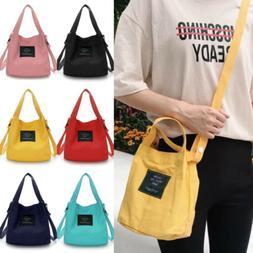 US Women Canvas Handbag Shoulder Bags Small Tote Purse Trave