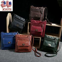 US Women Leather Handbag Purse Satchel Messenger Crossbody S