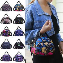 US Women Nylon Handbag Shoulder Mom Cross Body Bag Tote Mess