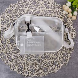 US Women Transparent Bag PVC Jelly Clear Tote Crossbody Shou