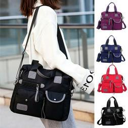 US Women Waterproof Shoulder Bags Messenger Bag Large Capaci