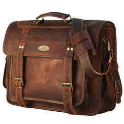 USA Men Briefcase Leather Business Shoulder Bag Messenger Sa