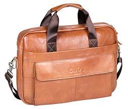 VIDNEG POLO Handmade Briefcase Top Grain Leather Laptop Bag