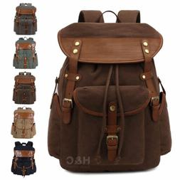 Vintage Canvas Backpack Men's Outdoor Travel Casual Daypack