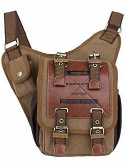 Leaper Vintage Canvas Chest Bag Shoulder Military Messenger