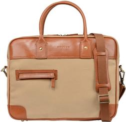 vintage canvas leather briefcase
