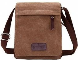 Berchirly Small Vintage Canvas+Leather Messenger Cross body