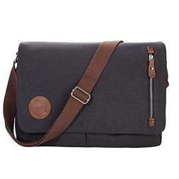 Gibgas 15.6 Inch Vintage Canvas Messenger Bag Laptop Shoulde