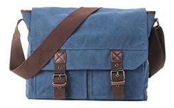 HONEYJOY Vintage Canvas Messenger Bag Laptop Shoulder Bags C