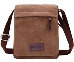Berchirly Small Vintage Canvas Messenger Cross body bag Pack
