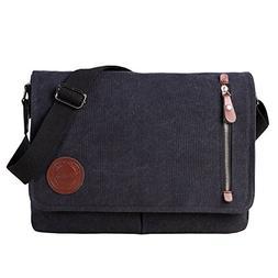 Vintage Canvas Satchel Messenger Bag for Men Women,Travel Sh