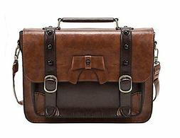 ECOSUSI Vintage Crossbody Messenger Bag Briefcase Girl Purse