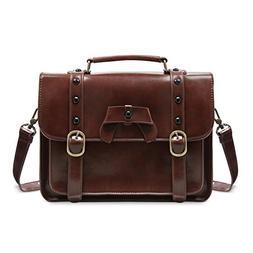 ECOSUSI Vintage Crossbody Messenger Bag Satchel Purse Handba