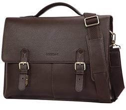 Banuce Vintage Faux Leather Briefcase for Men Pu Business To