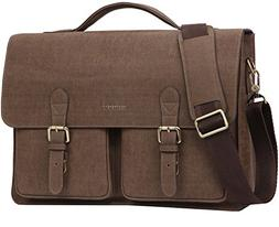 Banuce Mens Faux Leather Briefcase Pu Business Tote Flapover