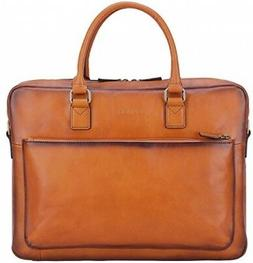 Banuce Vintage Full Grain Leather Briefcase for Men Tote Bus
