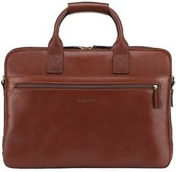 Banuce Vintage Full Grain Leather Briefcase for Men Business