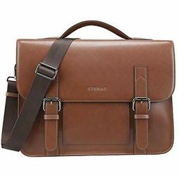 Banuce Vintage Genuine Leather Messenger Bag 13 Inch Laptop