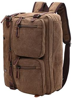 Mygreen Vintage Laptop Backpack Messenger Unisex Convertible