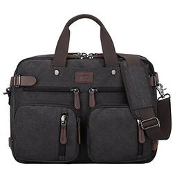 S-ZONE 3-Way Convertible Laptop Backpack Messenger Shoulder
