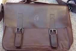 Vintage Leather Briefcase, Berchirly PU Leather Shoulder Mes