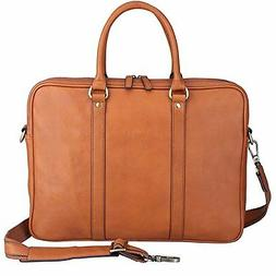 Banuce Vintage Leather Briefcase Tote 14 Laptop Case