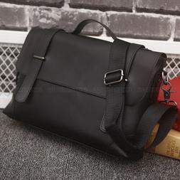 Vintage Leather Shoulder Bag Satchel Handbag Briefcase Busin