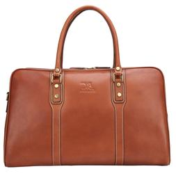 Banuce Vintage Full Grain Leather Travel Bag for Men Busines