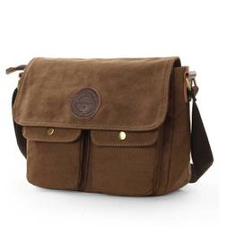 Vintage Men's Canvas Messenger Shoulder Bag Crossbody School