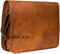 Vintage Men's Leather Casual Messenger Bag Cross-body Tote H