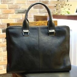 Vintage Men's Leather Messenger Crossbody Shoulder Bags Hand