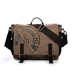 MiCoolker Vintage Military Army Canvas Laptop Messenger Bags