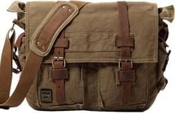 Berchirly Vintage Military Canvas Messenger Bag for 13.3 Inc