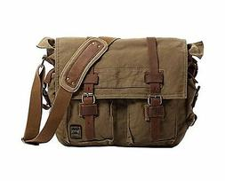 Berchirly Vintage Military Men Canvas Messenger Bag for 17.3