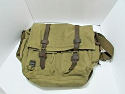 Berchirly Vintage Military Men Canvas Messenger Bag 17.3Inch