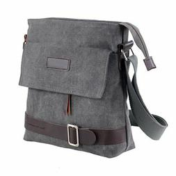 Mfeo Vintage Retro Canvas Messenger Bag Cross-Body Bag Small