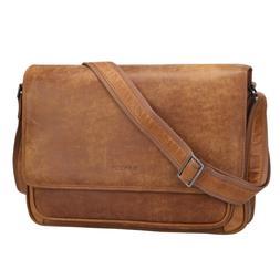 Banuce Vintage Soft Full Grain Italian Leather Messenger Bag