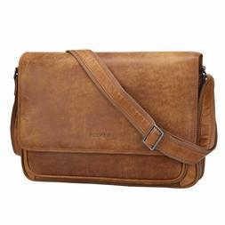 vintage soft full grain italian leather messenger