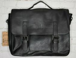 Berchirly Vintage Style Leather Briefcase Leather Shoulder M